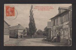 CPA.dépt.27.AMFREVILLE-les-CHAMPS.Quartier Du Bout-de-bas,embranchement De La Route Des Andelys.petite Animation. - France