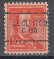 USA Precancel Vorausentwertung Preo, Locals Ohio, Edgerton 703 - Vereinigte Staaten