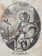 SAINTE ODILA - ODILE - 1800's ANTWERPIAN GRAVURE -  BIDPRENTJE - IMAGE PIEUSE - Religion & Esotérisme