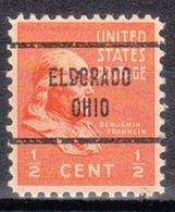 USA Precancel Vorausentwertung Preo, Locals Ohio, Eldoradon 713 - Vereinigte Staaten