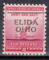 USA Precancel Vorausentwertung Preo, Locals Ohio, Elida 701 - Vereinigte Staaten