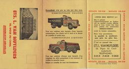 Carte En Trois Volets Van Muylders Anderlecht Bruxelles Charbon Combustibles Livraison Camion - Publicités