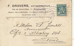 Carte F. Dravers Entrepreneur à Bruxelles - Publicités