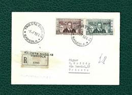 """TRIESTE Zona A 1954 - FDC  """"7° Centenario Della Nascita Di Marco Polo"""" - Sassone 204-05 - 7. Trieste"""