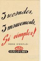 Publicité En 4 Volets Stylo Encre STYLOPOMPE Par Filma - Publicités