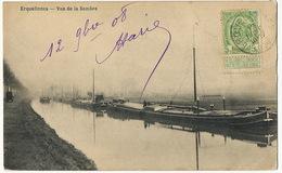 Erquelinnes Vue De La Sambre Batellerie Canal Peniche  Edit Longfils Merelle - Erquelinnes