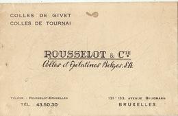 Carte Colle De Givet Et Tournai ROUSSELOT à Bruxelles - Publicités