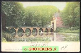 HOORN Vest En Oosterpoort 1906 Doorloper Gekleurd Stempel Grootrond Hoorn-Station - Hoorn