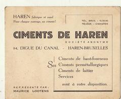 Carte Ciment De Haren Par Lootens Bruxelles - Publicités