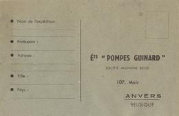 Carte Pompe GUINARD Anvers Recto Verso - Publicités