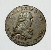 MIDDLESEX - J. LACKINGTON Finsbury Square - HALF Penny Token ( 1795 ) Booksellers / Copper - Monetari/ Di Necessità