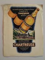 Publicité Issue D'un Magazine - La Chartreuse Illustration De Ch. Lemmel - Avion DC 7C, Douglas - Publicités