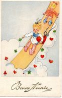 Kinderen Glijden In De Wolken - 1946 - Humorous Cards
