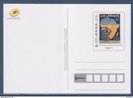 = Type MonTimbraMoi Monde 20g Entier Carte Postale Régie Air Afrique La Ligne De L'Afrique Française - Postwaardestukken