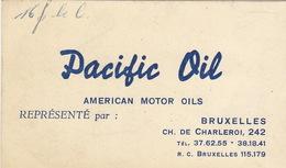 Carte American Motor Oil PACIFIC OIL  Huile - Publicités