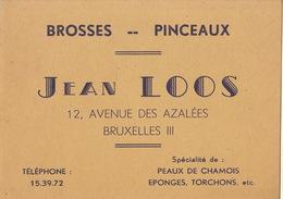 Carte Brosse Pinceau Peau De Chamois éponge Jean LOOS à Bruxelles - Publicités