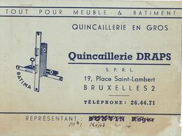 Carte Quincaillerie DRAPS à Bruxelles - Publicités