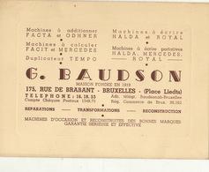 Carte Machine à écrire à Calculer FACTA ODHNER FACIT MERCEDES BAUDSON à Bruxelles - Publicités