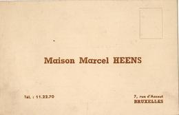Carte Machine à écrire à Calculer Marcel HEENS à Bruxelles - Publicités