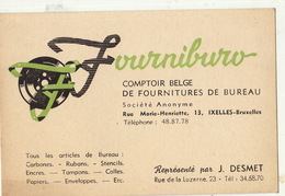 Carte FOURNIBURO Ixelles Matériel De Bureau - Publicités