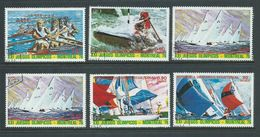 Equatorial Guinea 1974 Montreal Olympic Games Yacht Racing Part Set 5 + 1 Duplicate FU - Summer 1976: Montreal