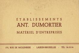 Carte DUMORTIER Laeken - Publicités