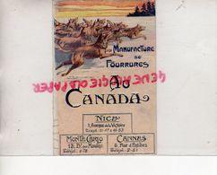 06- NICE- CANNES- MONTE CARLO- PROGRAMME DES FETES SAISON 1924-1925- MANUFACTURE FOURRURES AU CANADA- FOURRURE - Programs