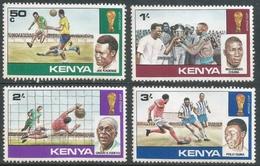 Kenya. 1978 World Cup Football Championship, Argentina. MH Complete Set. SG 122-125 - Kenya (1963-...)