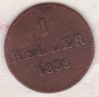 Frankfurt / Francfort . 1 Heller 1838 KM# 311 - Small Coins & Other Subdivisions