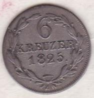 Nassau. 6 Kreuzer 1825 . Wilhelm . Argent . KM# 46.2 - Small Coins & Other Subdivisions