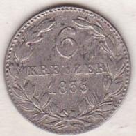 Nassau. 6 Kreuzer 1835 . Wilhelm . Argent . KM# 53 - Small Coins & Other Subdivisions