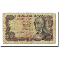 Billet, Espagne, 100 Pesetas, 1970-11-17, KM:152a, B+ - [ 3] 1936-1975 : Regency Of Franco