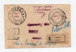 !!! PRIX FIXE : FEZZAN, LETTRE DE SEBHA DU 4/5/1943 AFFRANCHIE EN NUMERAIRE - RR, COTE 3250 € - Fezzan (1943-1951)