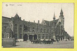 * Brugge - Bruges (West Vlaanderen) * (Nels, Série 12, Nr 21) La Gare, Statie, Railway Station, Bahnhof, Char Cheval - Brugge