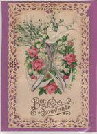 CPA -  Carte Fantaisie  - Dentellée  - Ajoutis Fleurs - - Otros