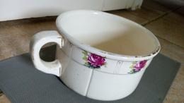 RARE - Franz Anton Mehlen Bonn - Pot De Chambre En Faïence à Decor De Roses - Germany Ca.1920 - ALLEMAGNE - Ceramics & Pottery