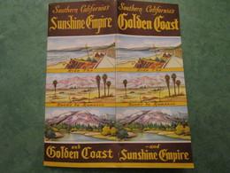 Southern California's Sunshine Empire And Golden Coast - Dépliants Touristiques