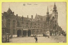 * Brugge - Bruges (West Vlaanderen) * (Nels, Série 12, Nr 22) La Gare, Bahnhof, Railway Station, Statie, Balsam Aperitif - Brugge