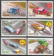 Kenya. 1978 Road Safety. MH Complete Set. SG 131-136 - Kenya (1963-...)
