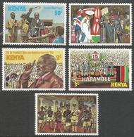 Kenya. 1978 Kenyatta Day. MH Complete Set. SG 137-141 - Kenya (1963-...)