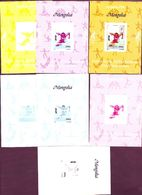 MONGOLIA  SPORT OLYMPIC ATHLETIC RUN  IMPERF Ungezähnt NON DENTELE  COMPLETE 7 COLOR TRY PROOFS MNH SUPERB - Summer 1996: Atlanta