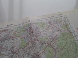 AACHEN ( Ausgabe 1-DMG Serie M 745 - L5302  ) Anno 1960 - Schaal / Echelle / Scale 1: 50.000 ( Stafkaart : Zie Foto's ) - Cartes Géographiques