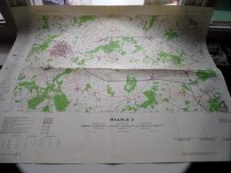 MAARLE 3 ( Editie 1 - M 735 Type R Blad 3 ) Anno 1954 - Schaal / Echelle / Scale 1: 50.000 ( Stafkaart : Zie Foto's ) - Geographical Maps