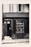 ** CARTE PHOTO ** Commerce : Bon Plan Animé Devanture Magasin De SOCIETAIRES ( Vins Thé Café ? ) Lieu à Déterminer - Winkels