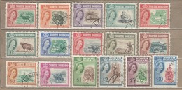 NORTH BORNEO 1961 QEII Definitive Complete Set Used (o) Mi 313-328 #12808 - Bornéo Du Nord (...-1963)