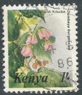 Kenya. 1983 Flowers. 1/- Used. SG 262b - Kenya (1963-...)
