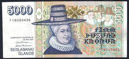 Iceland - 5000 Kronur 2001 - P60(3) - Iceland