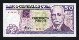 Banconota  Cuba 50 Pesos 2007 - Cuba