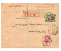 TP 138-143 S/L.Recommandée Gouvernement Belge C.Ste.Adresse Poste Belge 10/7/1918 V.Angleterre C.d'arrivée 1617 - Guerre 14-18