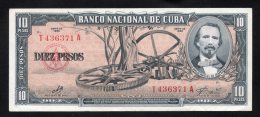 Banconota  Cuba 10 Pesos 1960 - Cuba